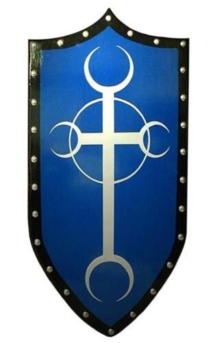 Gothic MOON CROSS SHIELD - sca/larp/wooden/medieval/vampire/knight/costume/armorReenactment & Reproductions - 156374