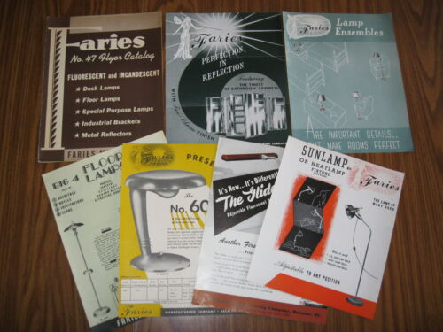 1940's FAIRIES LAMP & LIGHTING BROCHURES, FLYERS, CATALOG LOT