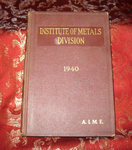Libro 1940 Transactions of American Institute of Mining Engineers
