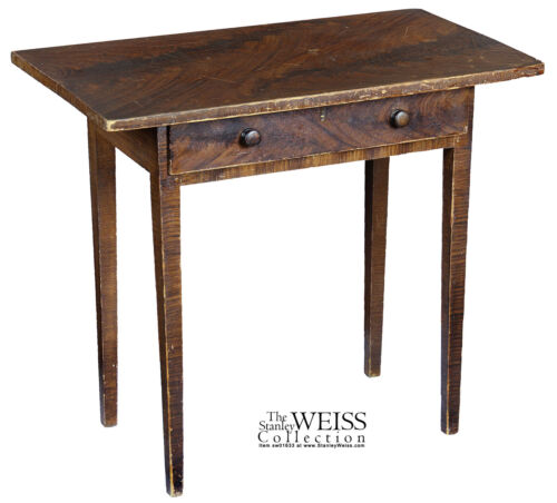 SWC-Grain-Painted Side Table, New England, c.1820