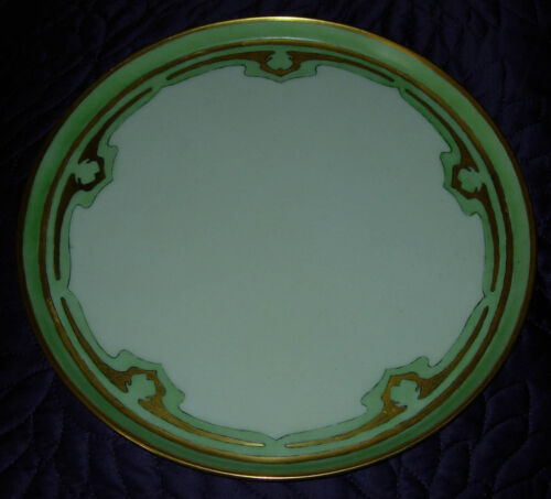 ART NOUVEAU  PORCELAIN TRAY  HAND PAINTED PATTERN  C. 1900  LIMOGES  T & V