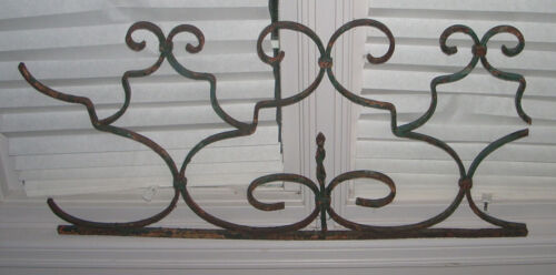 Antique French Architectural Wrought Iron Panel