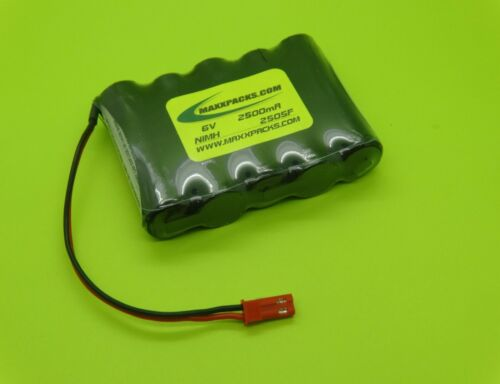 SANYO 6V 2700mAh AA RECEIVER RX NiMH BATTERY JST BEC / MADE IN USA / S2705F-B