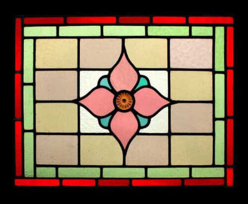 Victorian Jewel Antique English Stained Glass Window