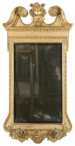 SWC-Early Chippendale Gilt Mirror, England, c.1750