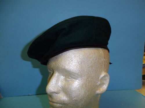b2602-61 RVN Vietnamese Marine & Special Forces Dark Green Beret label  Size 61Reproductions - 156445