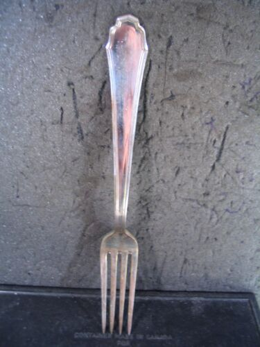 "Vintage Milan Italy 800 Silver Calderoni LUNCHEON FORK  7"" nm"