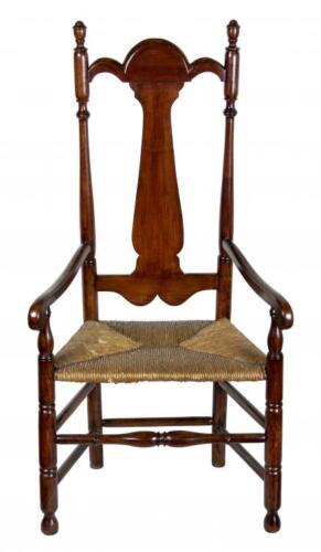 SWC-Rare Tall-back Cherry Armchair, Connecticut, possibly Colchester, c.1740-60