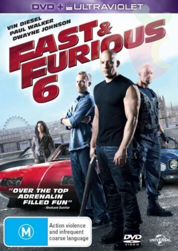 FAST and FURIOUS Complete 1, 2, 3, 4, 5 & 6 DVD Box Set R4 New 1 - 6