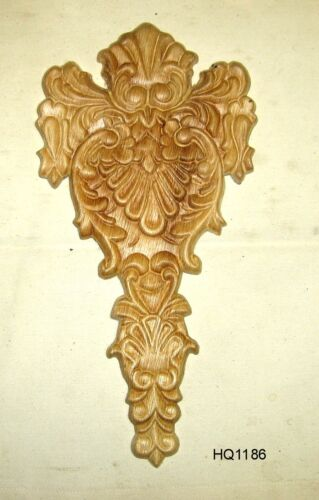 "WOOD EMBOSSED APPLIQUE 6""  X 11 3/4""     HQ1186"