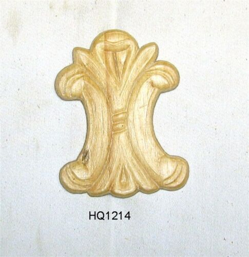 "WOOD EMBOSSED APPLIQUE 2 3/4"" X 3 3/4""  HQ1214"