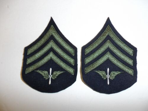 b1558p 1930's-WW2  US Army unofficial Army Air Corp Sergeant chevron pair R1DReproductions - 156372