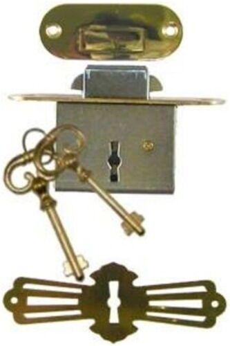 Roll Top Desk Lock Set - Rounded Plates    M1802