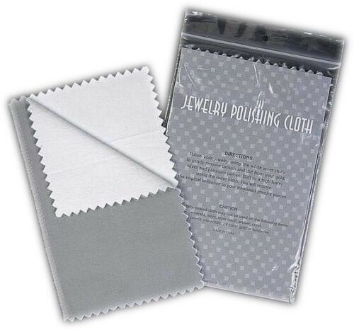 "4"" by 6"" Jewelry Polishing Cloths - Pack of 10 (5 Gray and 5 Tan)"