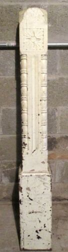 ~ ANTIQUE CARVED WALNUT NEWEL POST 55 TALL ~ ARCHITECTURAL SALVAGE ~