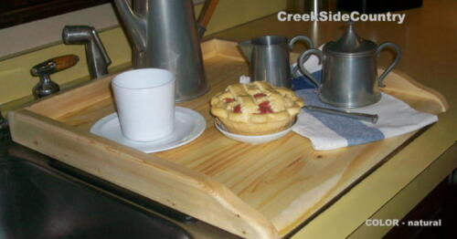 UNFINISHED Furniture  WOOD KITCHEN SINK COVER or Wood Stove Top Cover  - TRAY