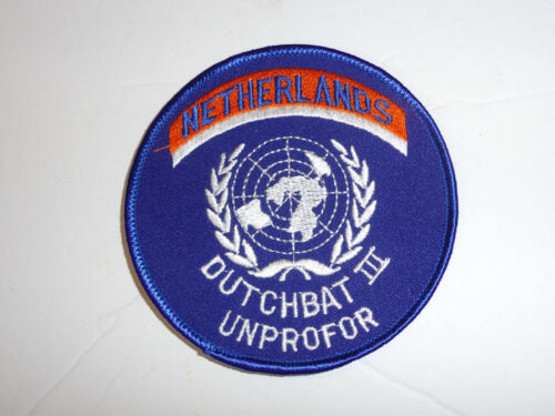 b3871 United Nations UN Netherlands Dutchbat III Unprofor patch Bosnia R2AReproductions - 156452