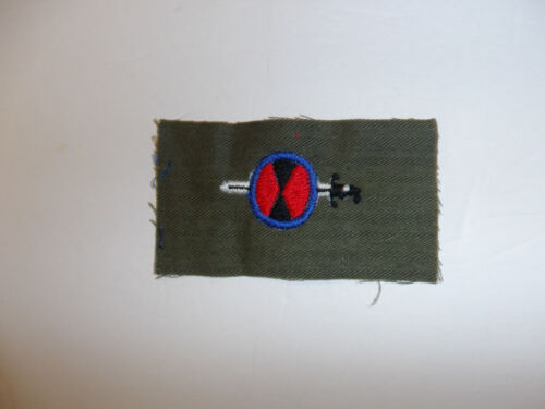 b4156 Korean war US Army 7th Infantry Division Order of the Bayo--- patch R8D