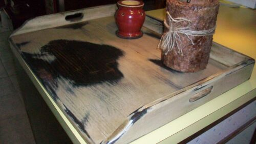 SHABBY cottage CHIC  Finish Wood Stove Top Cover Noodle Board Tray