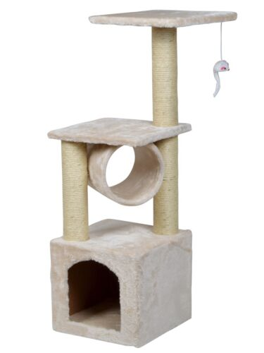 "36"" Deluxe Cat Tree Level Condo Furniture Scratching Post Kittens Pet Play House"