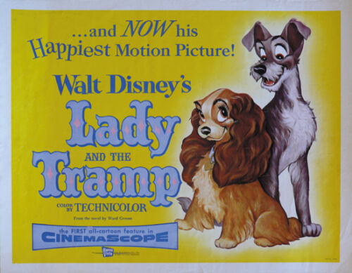Lady & the tramp cult Disney movie cartoon poster print 13