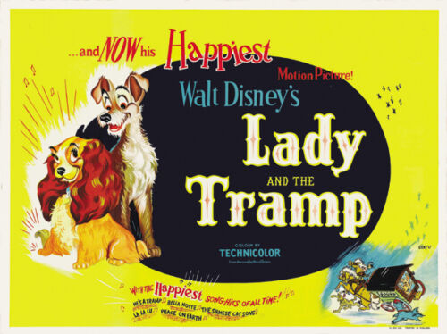 Lady & the tramp cult Disney movie cartoon poster print11