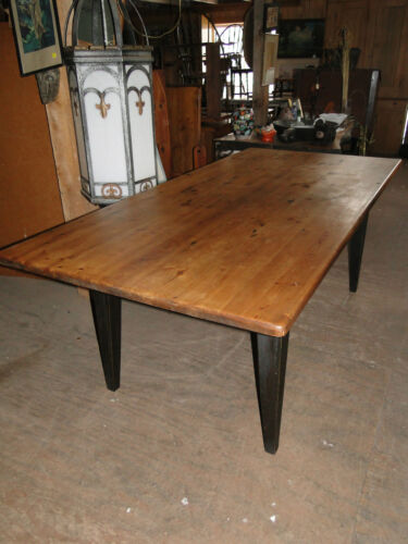 7'   FARM  TABLE  IN  PINE WITH  THICK  TOP