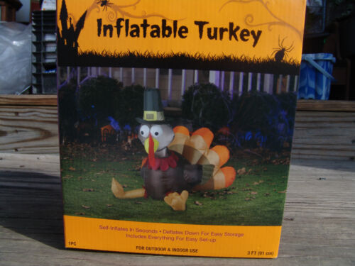 Thanksgiving airblown antiques us for Airblown turkey decoration