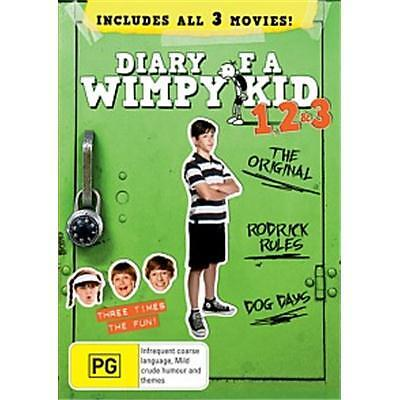 Diary of a Wimpy Kid 1, 2 & 3 DVD Box Set Collection 1-3 Rodrick Rules Dog Days