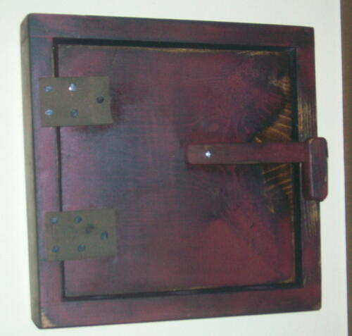 Thin Profile Primitive Wood Thermostat, Door Bell, Control Box Cover Cabinet