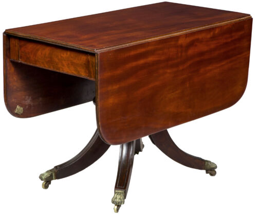 SWC-Classical Pedestal Dining Room Table, attributed to Fiske, Boston, c.1820