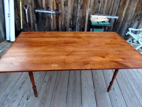 PRIMITIVE  FARM  TABLE  WITH    TURNED  LEGS