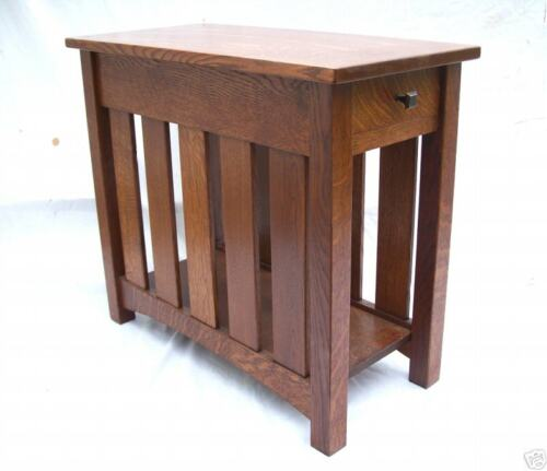MISSION ARTS & CRAFTS NIGHT STAND W/ DRAWER SLAT SIDES FREE SHIPPING