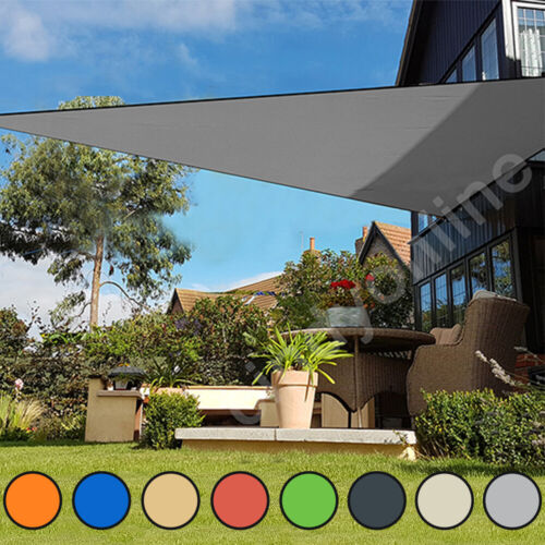 Sun Shade Sail Garden Patio Party Sunscreen Awning Canopy 98% UV Block Triangle <br/> Trusted Seller High Quality Best Service