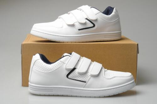 Mens Wide Fitting Trainers White Touch Fastening Sizes 7 8 9 10 11 12
