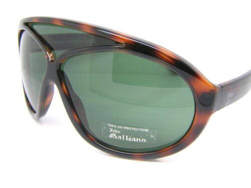 John Galliano Cool Occhiali da Sole Unisex JG0032 052N Marrone Nuovo E Originale
