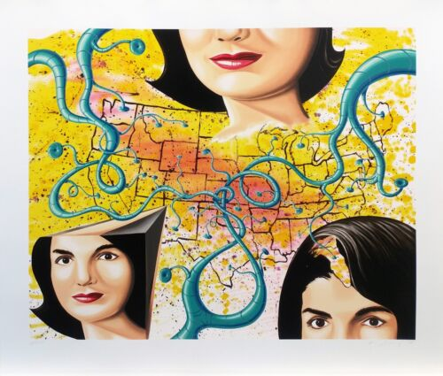 """KENNY SCHARF """"THE 3 FACES OF JACKIE THE AMERICAN"""" 1997   LARGE SIGNED SERIGRAPH"""