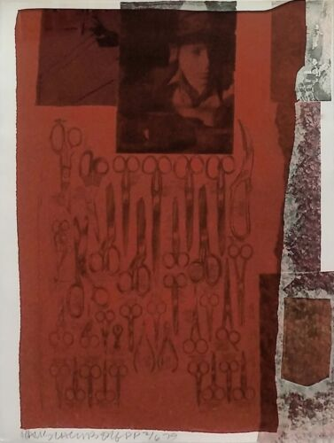 """ROBERT RAUSCHENBERG """"MOST DISTANT VISIBLE PART OF THE SEA"""" 1979 