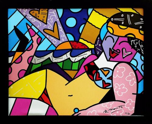 """ROMERO BRITTO """"UNKNOWN (BEACH)"""" 