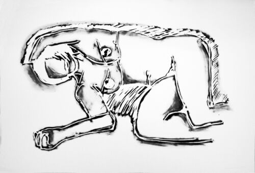 """TOM WESSELMANN  """"MONICA LYING ON HER SIDE, WITH SCRIBBLE""""   SIGNED SCREENPRINT"""