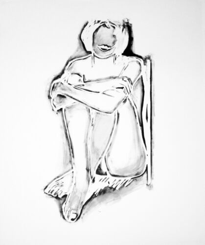"""TOM WESSELMANN """"MONICA SITTING BY WALL"""" 1990   LARGE SIGNED PRINT  MAKE AN OFFER"""