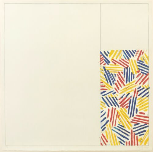 """JASPER JOHNS """"#4, FROM 6 LITHOGRAPHS (AFTER UNTITLED 1975)"""" 