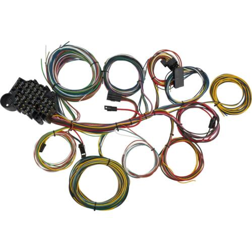 Speedway 22 Circuit Universal Street Rod Wiring Harness w/ Detailed Instructions
