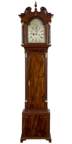 SWC-Fine Chippendale Tall Case Clock w/ Silvered Face, James Jacks, NY, c.1780