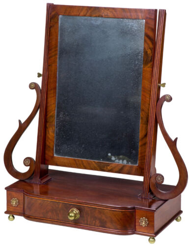 SWC-Desirable Classical Shaving Mirror, Massachusetts, c.1810