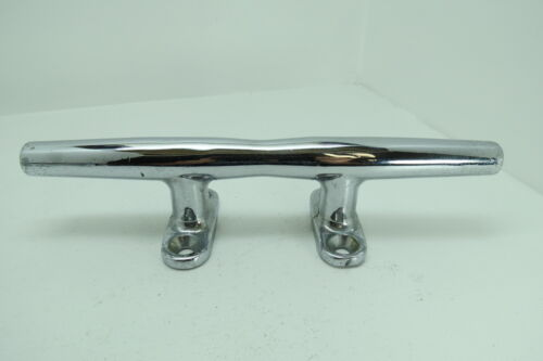 12 INCH MERRIMAN CHROME OVER BRONZE SHIP BOAT DOCK CLEATS CHOCKS (D2A1189)