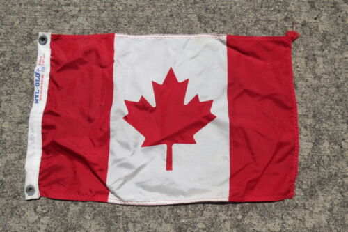 12 x 18 INCH NYL-GLO CANADA CANVAS FLAG USA CLUB YACHT SIGNAL (C2.5B425)