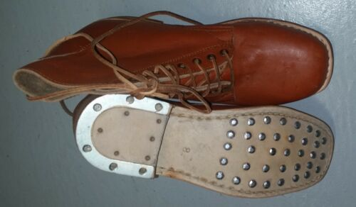 AIF WW1 WW2 BROWN LEATHER BOOTS -  REPRODUCTION PAIR AUSTRALIAN ARMY BOOTS1914 - 1918 (WWI) - 13962