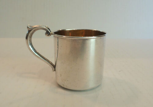 """VINTAGE ALVIN """"LULLABY"""" STERLING SILVER & PARTIAL GILT BABY CUP"""