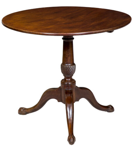 SWC-Chippendale Tilt-Top Table w/ Small Claw and Ball Feet, Newport, c.1780